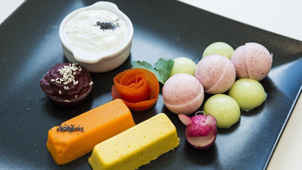 Légumes Façon Potagère  et leurs Douceurs ( Recette de Frédéric BASTIANINI ) – Recette