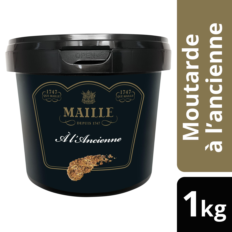 Maille Moutarde à l'ancienne Seau 1kg -